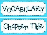 Math in Focus Chapter 5 Vocabulary Cards