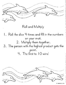 Math in Focus Chapter 7- 2/3 Digit Multiplication Center Directions