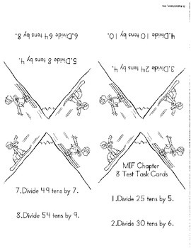 Math in Focus Chapter 8 Task Cards-3rd grade division