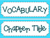 Math in Focus Chapters 1-9 Bundle Vocabulary Cards
