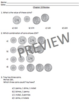 Math in Focus Chapters 19 Assessment Review