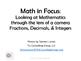 Math in Focus Fractions Decimals and Integers K-12