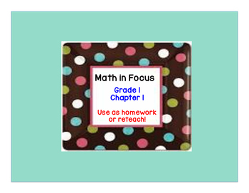 Math in Focus: Grade 1, Chapter 1