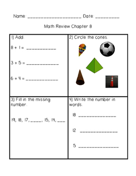 Math in Focus Grade 1 Chapter 8 Addition and Subtraction Facts to 20