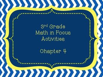 Math in Focus Grade 3 Chapter 4 Activities (Singapore Math)