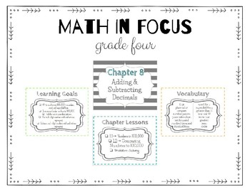 Math in Focus Grade 4 Focus Wall (Chapters 8-14)