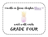 Math in Focus Grade 4 Vocabulary/Word Wall Cards (Chapter 3)