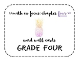 Math in Focus Grade 4 Vocabulary/Word Wall Cards (Chapter 4)
