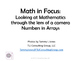Math in Focus Numbers in Arrays