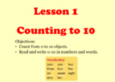 """Math in Focus """"Numbers to 10"""" SMARTNotebook Lesson"""