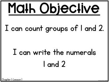 Math in Focus Objectives for Kindergarten