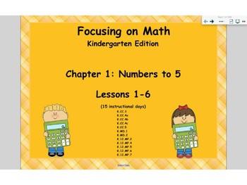 Mathematics in Focus Kindergarten SMART board lessons Ch 1
