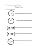 Math in Focus Telling Time