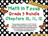 Math in Focus Third Grade Bundle: Chapters 10, 11, 12