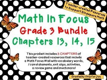 Math in Focus Third Grade Bundle: Chapters 13, 14, 15