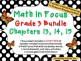 Math in Focus Third Grade Bundle: Chapters 13, 14, 15