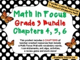 Math in Focus Third Grade Bundle: Chapters 4, 5, 6