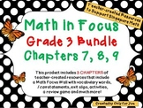 Math in Focus Third Grade Bundle: Chapters 7, 8, 9