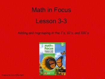 Math in Focus Third Grade Chapter 3