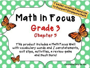 Math in Focus - Third Grade Chapter 5