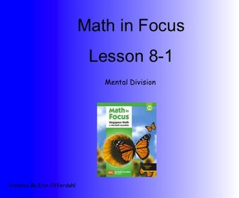Math in Focus Third Grade Chapter 8