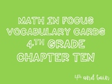 Math in Focus Vocabulary 4th Grade Chapter 10