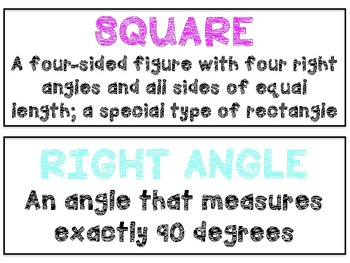 Math in Focus Vocabulary 4th Grade Chapter 11