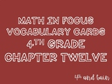 Math in Focus Vocabulary 4th Grade Chapter 12