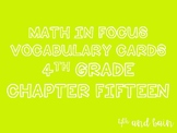 Math in Focus Vocabulary 4th Grade Chapter 15
