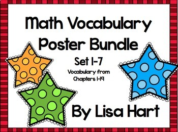 Math in Focus Vocabulary Bundle - Sets 1-7