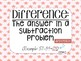 Math in Focus Vocabulary Cards 3rd Grade Chapter 4 (Subtraction)