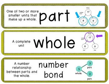 Math in Focus Vocabulary cards 1st grade