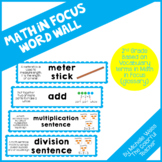Math in Focus Word Wall- 2nd Grade