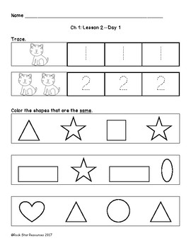 Mathematics in Focus Worksheets Ch 1 Lesson 2 Day 1