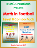 Math in Football-Level II Combo Pack: Football Word Problems & Fantasy Football