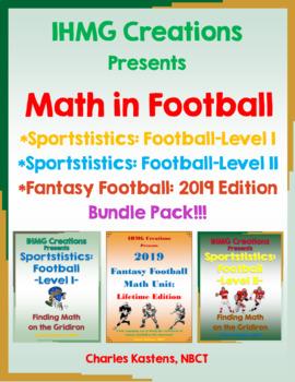 Math in Football--Levels I & II + Fantasy Football: 2016 E