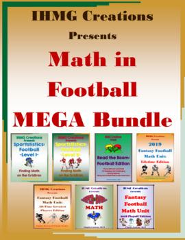 Math in Football MEGA Bundle: Word Problems, Fantasy Football, Super Bowl Math