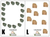 Math in Motion-Counting Rocks- 9 to 20 rectangular, circular, scattered arrays