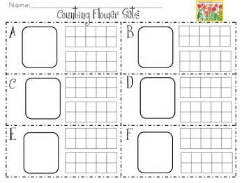 Math in Motion-Flowers-Numbers 9-20 Rectangular, Circular and Scattered Arrays