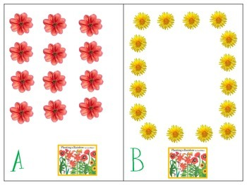 Math in Motion-Flowers-Numbers 9-20 Rectangular, Circular