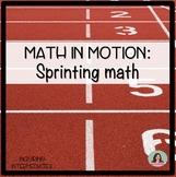 Math in Motion: Sprinting Math Activity