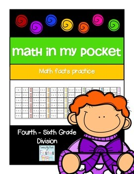 Math in My Pocket ~ Division Fourth -Sixth Grade
