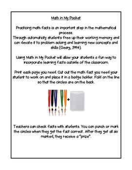Math in My Pocket ~ Multiplication Fourth -Sixth Grade Winter Edition