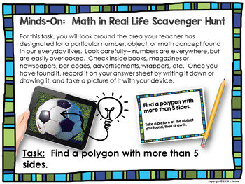 Math in Real Life Scavenger Hunt