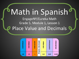 Math in Spanish: Grade 5 Module 1 Lesson 1