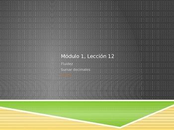 Math in Spanish: Grade 5 Module 1 Lesson 12
