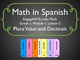 Math in Spanish: Grade 5 Module 1 Lesson 5
