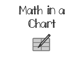 Math in a Chart Center Task Cards
