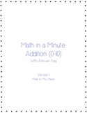 Math in a Minute: Addition (0-10)