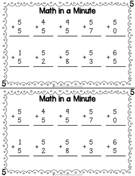 Math in a Minute - Addition & Subtraction Bundle
